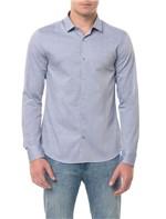 Camisa Slim Cannes Maquinetado Listrado - 3