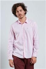 Camisa Slim com Elastano Rosa G