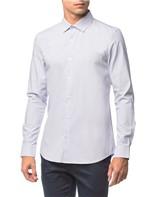 Camisa Slim Geneva Maquinetado - Branco 2 - 1