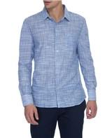 Camisa Slim Listra Rustica Espaçada Gene - 1