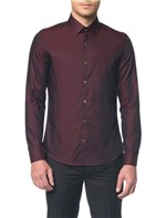 Camisa Slim Monte Carlo C Vico Natural - Bordo - 1