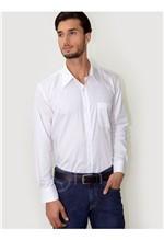 Camisa Social Branca Listras-4