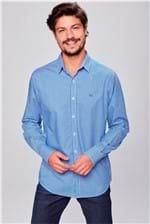 Camisa Social Xadrez Azul/Branco