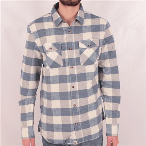 Camisa Vans Radden Azul/bege G