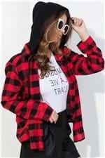 Camisa Xadrez com Capuz BL3952 - Kam Bess