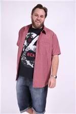 Camisa Xadrez Plus Size Vermelho M