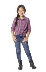Camisa Xadrez Unissex Menino Malwee Kids Rosa Claro - 1