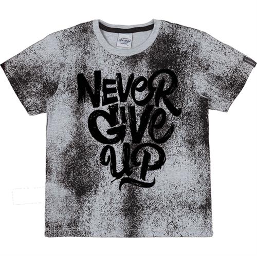 Camiseta Abrange Juvenil Never Give Up Mescla 12