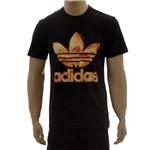 Camiseta Adidas Estampada Trefoil Flames (G)
