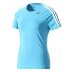 Camiseta Adidas Mc D2m 3s Azul Feminina PP