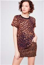 Camiseta Animal Print Feminina