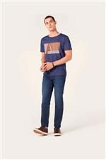 Camiseta Aramis Tipografia Linear Azul Tam. P
