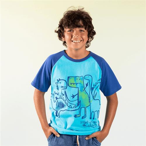 Camiseta Avulso Ciano/12 e 14