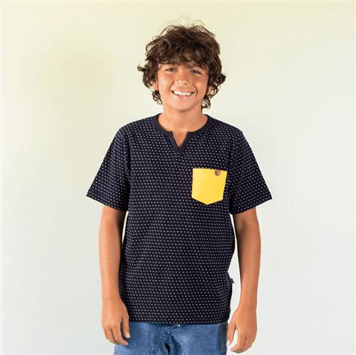 Camiseta Avulso Preto e Bco/10 e 12
