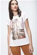 Camiseta Básica Estampada Feminina