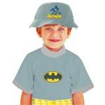 Camiseta Batman Infantil Proteção Uv Sem Boia e Sem Chapeu Rubies Tamanho P