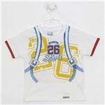 Camiseta Bebê Masculina Manga Curta Branca-P