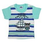 Camiseta Bebê Masculina Manga Curta Verde-2