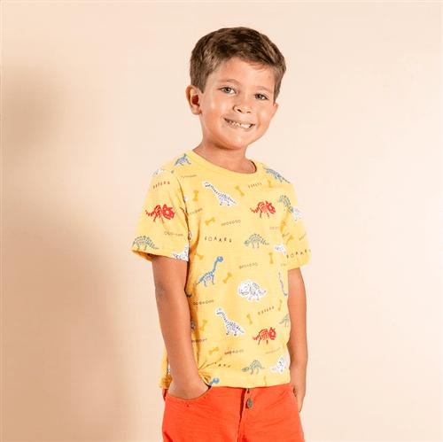 Camiseta Caçadores de Fósseis Camiseta Cacadores de Fosseis Mostarda/1 e 2