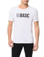 Camiseta Calvin Klein Jeans Estampa Be Basic Branco - PP