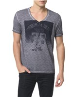 Camiseta Calvin Klein Jeans Estampa Calvin New York Chumbo - P