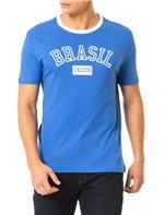 Camiseta Calvin Klein Jeans Estampa Copa Gola Azul Carbono - M