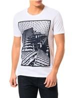 Camiseta Calvin Klein Jeans Estampa Corrosão Branco - GG