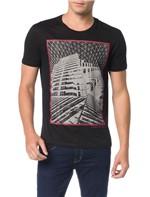 Camiseta Calvin Klein Jeans Estampa Corrosão Preto - G