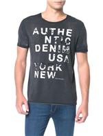 Camiseta Calvin Klein Jeans Estampa Denim Usa Preto - P