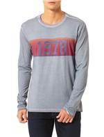 Camiseta Calvin Klein Jeans Estampa Faixa Vintage 1978 Chumbo - M