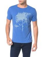 Camiseta Calvin Klein Jeans Estampa Flor Azul Carbono - XGG