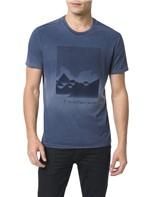 Camiseta Calvin Klein Jeans Estampa Montanhas Marinho - GG