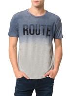Camiseta Calvin Klein Jeans Estampa Route Mescla - PP