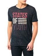 Camiseta Calvin Klein Jeans Estampa States Of Youth Grafite - GG