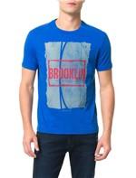 Camiseta Calvin Klein Jeans Streetball Brooklin Azul Carbono - PP