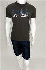 Camiseta Calvin Klein New York Preta Tam. G