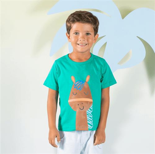 Camiseta Cavalinho Valente Jade/1 e 2