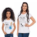 Camiseta Cinderela Tal Mãe Tal Filha 1