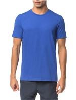 Camiseta Ck Swim Mc Etiqueta Manga - Azul Médio - G