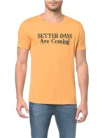 Camiseta CKJ Estampada Better Days - Mostarda - PP