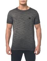 Camiseta Ckj Flamê Tinto Sujo Logo Peito - Preto - P
