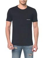 Camiseta Ckj Mc Bolso Peito Preto Camiseta Ckj Mc Bolso Peito - Preto - PP