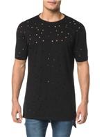 Camiseta CKJ MC Detalhe Furos - M