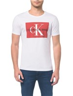 Camiseta Ckj Mc Es Ck Quadrado - Branca - PP