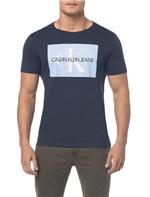 Camiseta Ckj Mc Es Ck Quadrado - Marinho Camiseta Ckj Mc Es Ck Quadrado Marinho - M