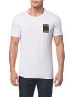 Camiseta Ckj Mc Est Calvin Jeans Peito - Branco 2 - PP