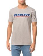 Camiseta Ckj Mc Est Fearless - Mescla - PP