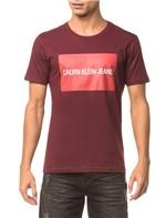 Camiseta CKJ Mc Est Logo Retângulo - Bordo - P