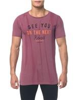 Camiseta Ckj Mc Est See You - Bordo - PP