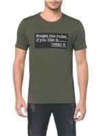Camiseta Ckj Mc Est Weart It - Oliva - PP
